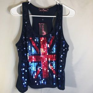 Almost Famous NWT Sequins Top! Large